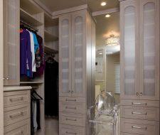 Sacramento small wood walk-in closet