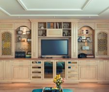 hardrock maple entertainment center and wall unit