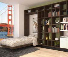 open wall bed and loft