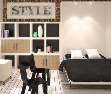 modern wall bed design open