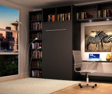 closed murphy bed system