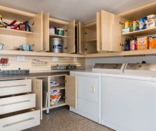 builtin cabinets in garage