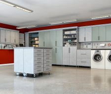 mixed material garage cabinets