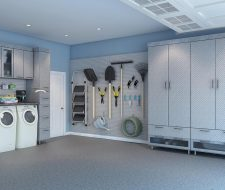 garage with laundry area