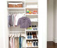 adjustable kids closet in white