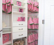 adjustable girls closet