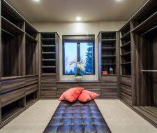 salt lake modern closet design and floated drawers