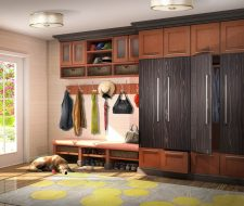 docorate entry wall unit and mudroom bench