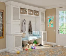 painted mudroom room in entry