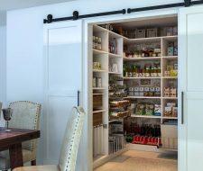 walkin pantry with barn doors