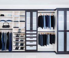 Melamine and wood closet system