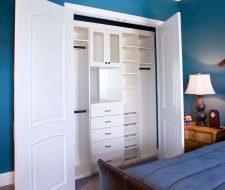 white melamine closet organizer