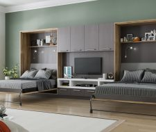 teen room with modern wall beds