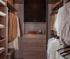 Industrial style closet system