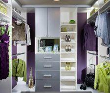 small walk -in closet system in white