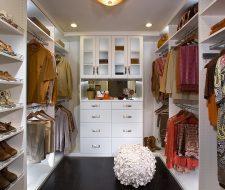 builtin white melamine closet drawers