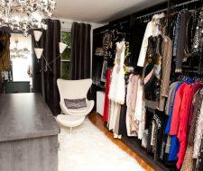 bedroom converted into a closet