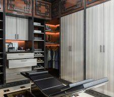 Man's master bedroom walk-in Asian style closet