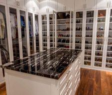 Large Houston walk-in closet with island