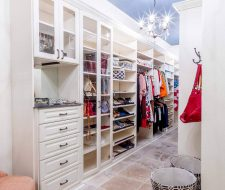 bedroom closet with drawers and shelving