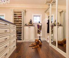 Mirror wardrobe doors cover built-in closets