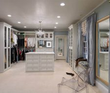 stained wood wardrobe walkin closet