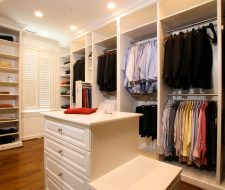 white painted closet system in Louisville