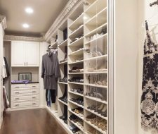 traditional acanthus wood walk-in closet