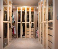 maple walk-in closet