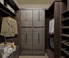 Contemporary custom closet in chocolate peartree