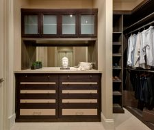 built-in drawers in wardrobe closet