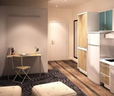 closed wall bed micro unit