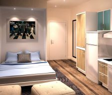 open wall bed