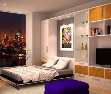 open wall bed loft