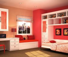 teen wall bed side fold style