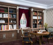 study at home with library shelving