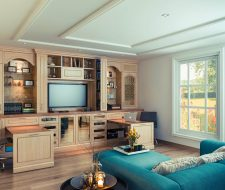 wall unit with pullout work stations