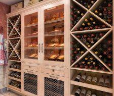 custom walkin pantry wine storage and humidor