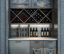 wine shelving and racks in niche