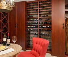 tasting room at home with fur storage
