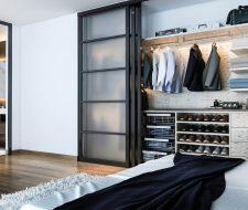 wood finesse floating man's closet