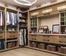 luxury closet with floated drawers