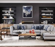Wall Unit Floated Shelves