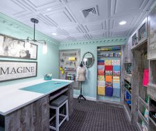 hampton roads created this craft room with wrapping station