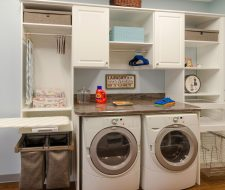 Antique white laundry space